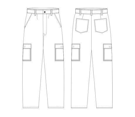 Calça Standard c/ Bolso de Fole